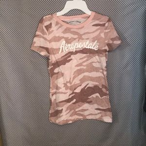 Light Pink Camo Aeropostale Top